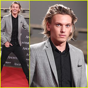 Jamie Campbell Bower is 'Anonymous' in Berlin
