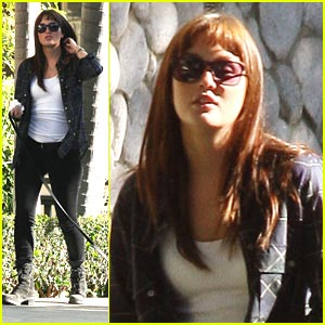 Leighton Meester: Dog Walk Around The Block