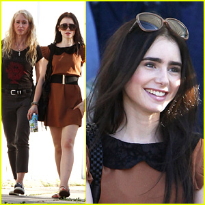 Lily Collins: Sunday Shopping With Mom!