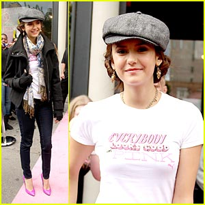 Nina Dobrev: Project Pink in NYC!