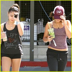 Vanessa & Stella Hudgens Hide Under Hats