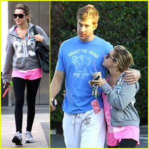 Ashley Tisdale & Scott Speer: Gym & Coffee Couple!