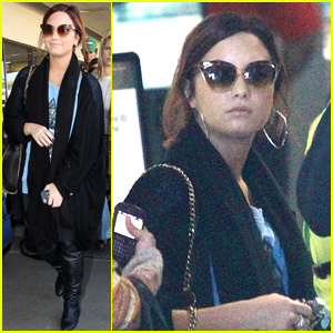 Demi Lovato: Departing for Detroit!