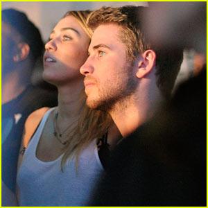 Miley Cyrus & Liam Hemsworth: Google Music Launch!