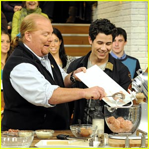 Nick Jonas Makes Meatballs with Mario Batali