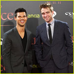 Robert Pattinson & Taylor Lautner: 'Breaking Dawn' in Barcelona