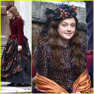 Dakota Fanning: Victorian in Venice