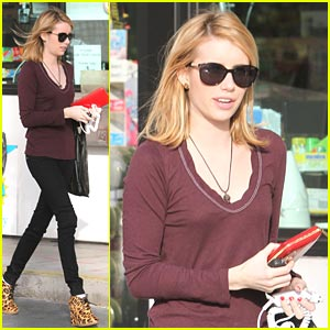 Emma Roberts Loves A Little Leopard