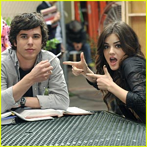 Lucy Hale: Study Time with Shane Coffey