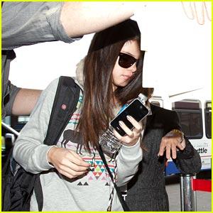 Selena Gomez: Luggage Cart Shielded