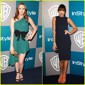 Ashley Madekwe & Christa B. Allen: InStyle Party Pair