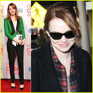 Emma Stone Wins at People's Choice Awards 2012
