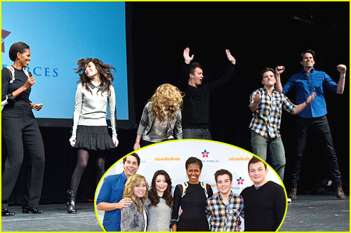 iCarly Cast Rock Out with Michelle Obama