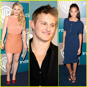 Leven Rambin: InStyle Golden Globes Party with Alexander Ludwig