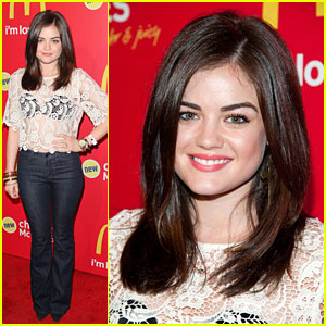 Lucy Hale: Chicken McBites Launch Party!