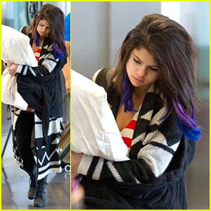 Selena Gomez Has a Pillow Pal