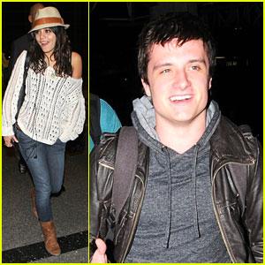 Vanessa Hudgens & Josh Hutcherson 'Journey' Out of LAX