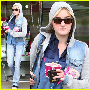 AJ Michalka Has the Munchies for Menchie's