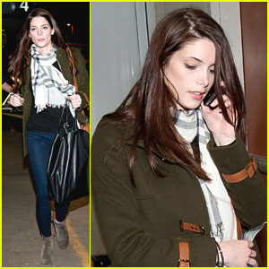 Ashley Greene Leaves Los Angeles
