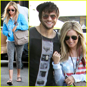 Ashley Tisdale & Martin Johnson: Studio City Smiles!