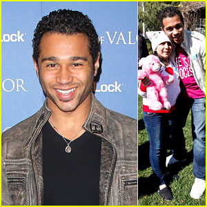 Corbin Bleu: Children's Hospital Valentine's Party!