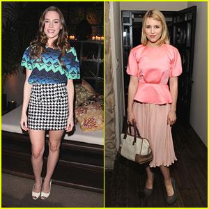Dianna Agron & Christa B. Allen: Marni for H&M Hotties