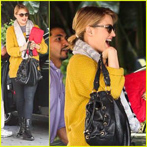 Dianna Agron: Sunset Towers Smiley