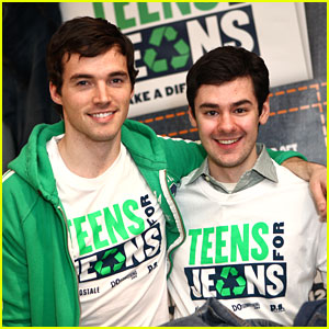 Ian Harding &#038; Brendan Robinson: Teens For Jeans Drop!