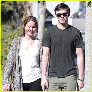 Jennifer Lawrence: Valentine's Walk with Nicholas Hoult