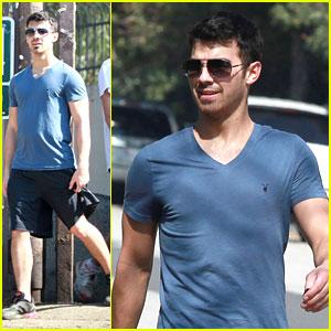 Joe Jonas Hikes in Hollywood
