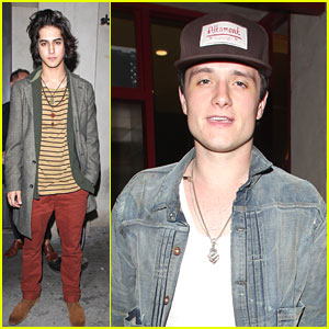 Josh Hutcherson & Avan Jogia Stop By The Sayers Club