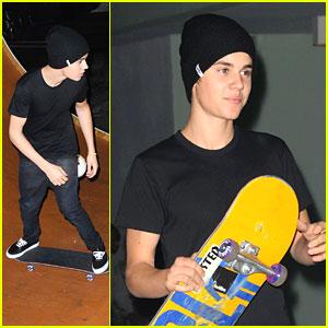Justin Bieber: Skateboarding in Miami