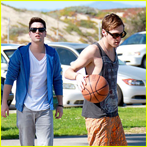 Kendall Schmidt & Logan Henderson: Big Time Basketball Break