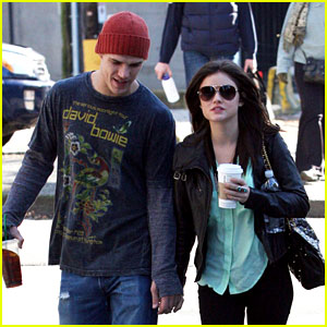 Lucy Hale: Holding Hands with Chris Zylka!