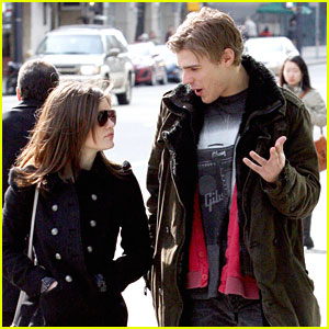Lucy Hale Visits Chris Zylka in Vancouver
