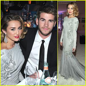 Miley Cyrus & Liam Hemsworth: Elton John AIDS Oscar Party Pair