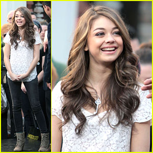 Sarah Hyland: Not Athletic for 'Struck By Lightning'