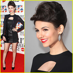 Victoria Justice: Beautiful at the BRIT Awards 2012
