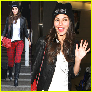 Victoria Justice: Red Plaid Pants!