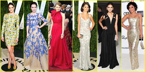 2012 Oscars & Oscar Parties -- Best Dressed Poll!