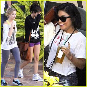 Vanessa, Selena & Ashley: Off to 'Spring Breakers' Set