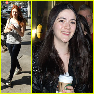 Isabelle Fuhman &#038; Jacqueline Emerson: Starbucks Stops