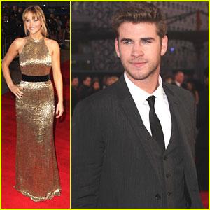 Jennifer Lawrence & Liam Hemsworth: 'The Hunger Games' London Premiere!