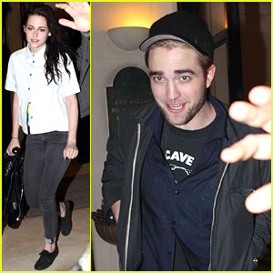 Robert Pattinson & Kristen Stewart: Paris Date Night