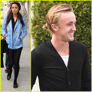 Tom Felton & Jade Olivia: Beverly Hills Lunch