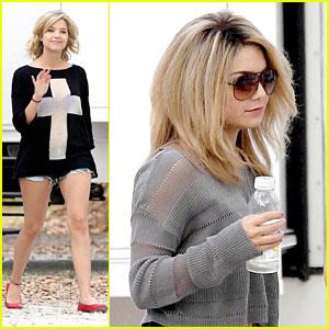 Ashley Benson: Sheer on 'Spring Breakers' Set with Vanessa Hudgens
