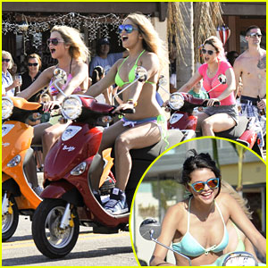 Vanessa, Ashley & Selena: Scooters for 'Spring Breakers'!