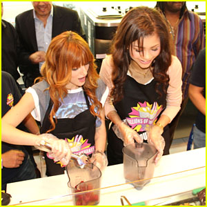 Bella Thorne & Zendaya Make Millions of Milkshakes in Dubai!