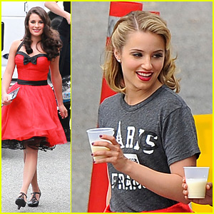 Dianna Agron & Lea Michele: Ladies In Red