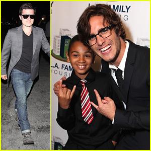 Josh Hutcherson & Diego Boneta: LA Family Housing Awards